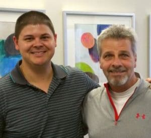 Chiropractor Jeffrey Lawlor with Jimmy