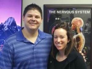 Chiropractor Jeffrey Lawlor with Leslie